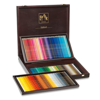 Caran D'ache Pablo 120 Coloured Pencil Wooden Box Gift Set Artist Sketching Draw