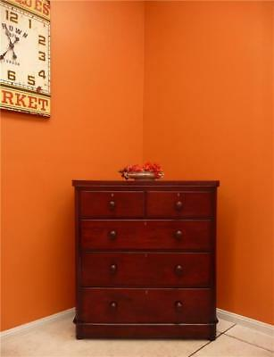 Antique Mahogany Chest of Drawers Graduated Drawers, Tall Boy Dovetailed Bedroom