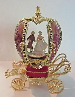 Musical Antimated CARRIAGE EGG Marie Antionette