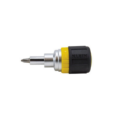 Klein Tools 6-in-1 Ratcheting Stubby Screwdriver/Nut Driver (32593)