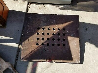 Vintage/Antique Cast Iron square manhole Cover Man Cave Decor