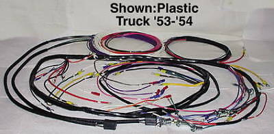 wiring harness, main alternator plastic covered 1953 1954 chevy truck 1955 chevy truck color wiring diagram