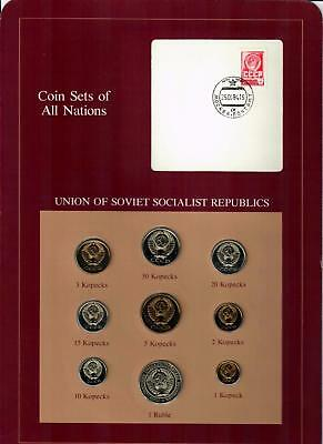 Union Of Soviet Socialist Republics Russia Coin Sets Of All Nations (9) Coins