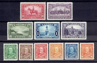 Canada Stamps 1935 #217-227 MNH KGV Pictorial Issue Complete Set