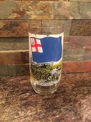 Vintage Coca Cola Heritage Collector Series Glass Bunker Hill Flag