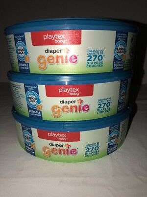 Playtex Diaper Genie Refills for Diaper Genie Diaper Pails - 270 Count 3-PK