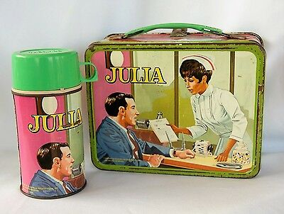 Vintage Julia Metal Lunch Box With Thermos Diahann Carroll 1969