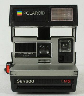 Vintage Polaroid Sun 600 LMS Instant Camera Flash