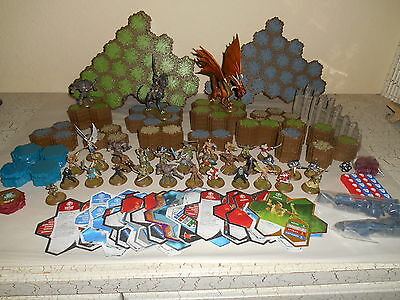 Over 200pcs HEROSCAPE Lot Hexes Figures Dragons Cards Walls more...