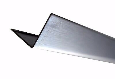 Brushed Chrome Perimeter Wall Angle Trim 3000mm x 24mm - Suspended Ceiling Grid