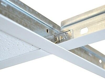 White Cross Tee Section 600mm x 24mm Suspended Ceiling Grid Spare Component