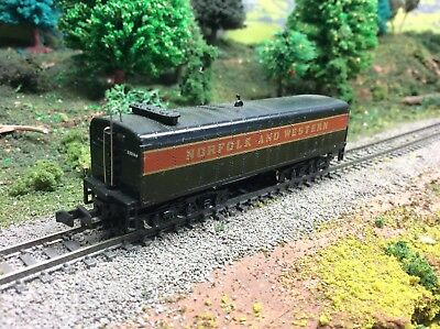 N Scale Norfolk And Western Unpowered Auxiliary Water Tender For Steam Loco