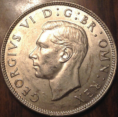 1944 Uk Gb Great Britain Two Shillings .500 Silver Choice Uncirculated