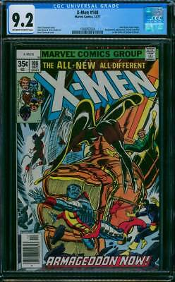 X-Men # 108  Armageddon Now !  1st John Byrne issue !  CGC 9.2 scarce book !