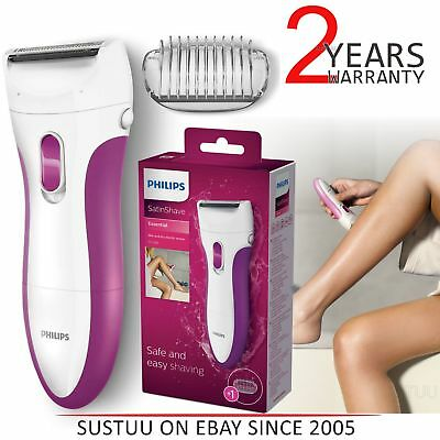 Philips HP6341/02 Wet and Dry Electric LadyShaver for Legs│Trimming Comb│Pink