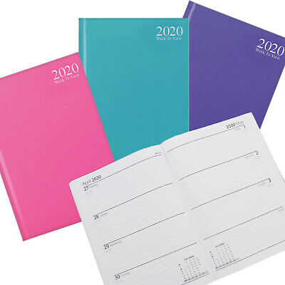2019 A5 Week to View Diary Hard Back Office/Desk Case Bound Diary