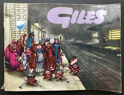 GILES ANNUAL - 13th SERIES (Paperback, 1959) Unclipped, Cartoon Collection