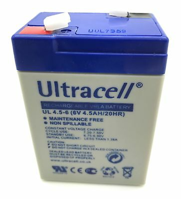 Ultracell UL 4.5-6 Bleiakku 6V 4,5Ah mit 4,8mm Faston