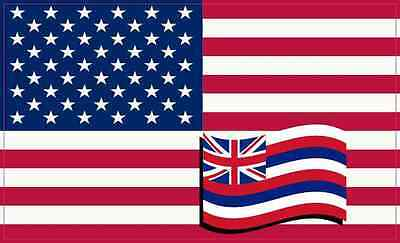5×3 America and Hawaii Flag Magnet Vinyl State Vehicle Bumper Magnets