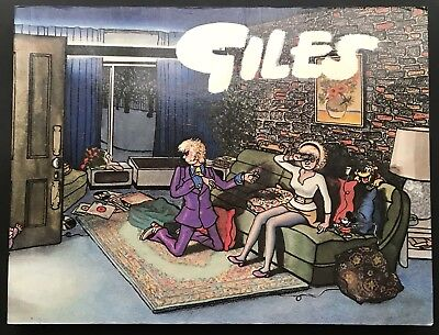 GILES ANNUAL - 26th SERIES (Paperback, 1972) Unclipped, Cartoon Collection