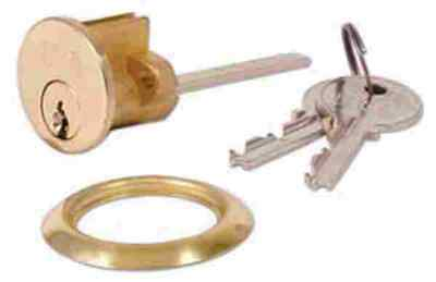 Yale Brass Night-latch Replacement Cylinder & 2 Keys Rim Barrel Door Lock Fit