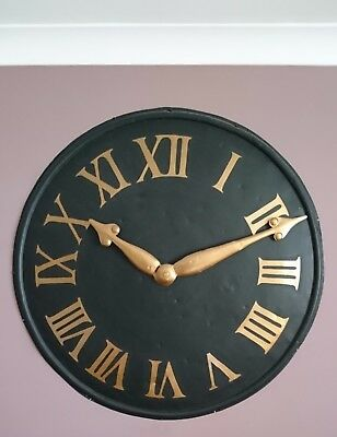 Victorian Copper Wall Mounted Church Clock Face With Hands: Wall Feature Antique