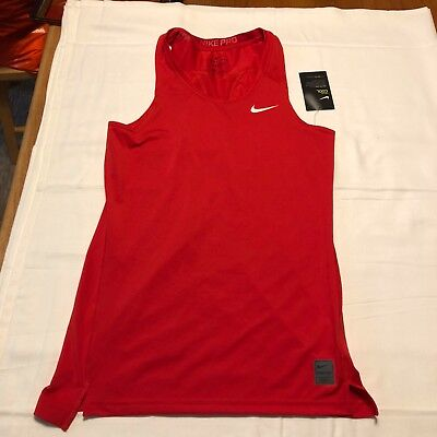 Nike Men's Pro Cool Compression Sleeveless Shirt  SZ L 703096 657 Red