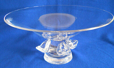 Steuben Crystal Footed Bowl Tazza Fruit Centerpiece