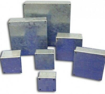 "Galvanised Adaptable Steel Box Electrical Enclosure 3x3x1.5"" inches 80x80x40mm"