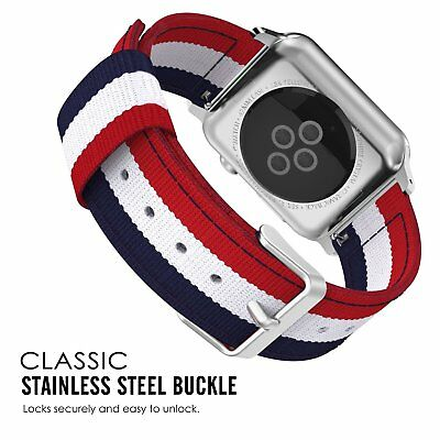 42mm Apple Watch Replacement Band Woven Nylon Bracelet For iWatch Series 3 2 1