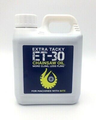 1 Litre XTRA TACKY CHAINSAW OIL 100Cst Chain Oil Guide Bar Pump for all Saws 1L