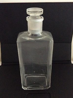 Vintage Apothecary Flask With Ground Glass Stopper