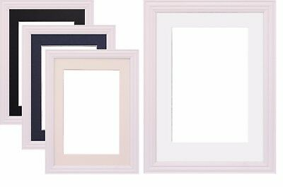 White Photo Picture Frame Poster Frame & Mount White Black Ivory Blue