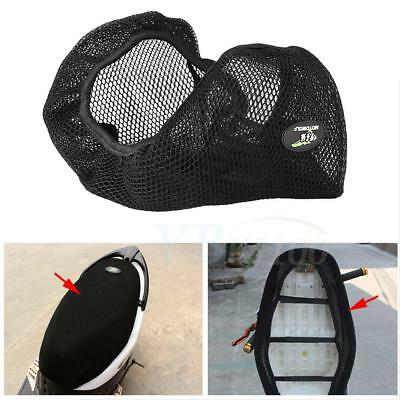 3D Black Motorcycle Bike Scooter Net Seat Cover Breathable Cooling Cushion Mat