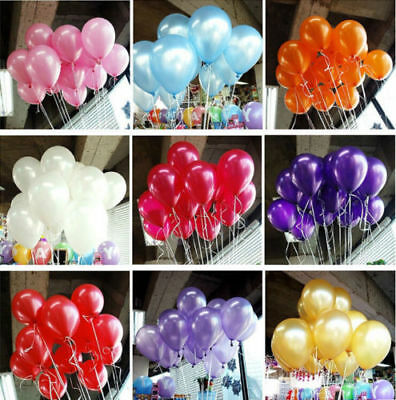 """10"""" Mix Colour Pearl Balloons Wedding Birthday Anniversary Engagement Party Deco"""