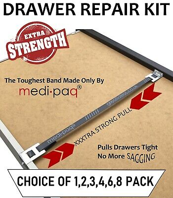 ** DRAWER DOCTOR ** - Repair / Fix / Mend Broken Drawers with X-TRA STRONG Band