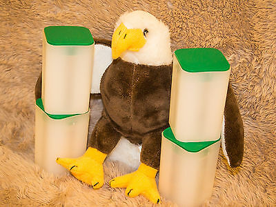 "FOUR Empty U.S. Mint American Silver Eagle Tubes - ""Nearly New"" Condition"