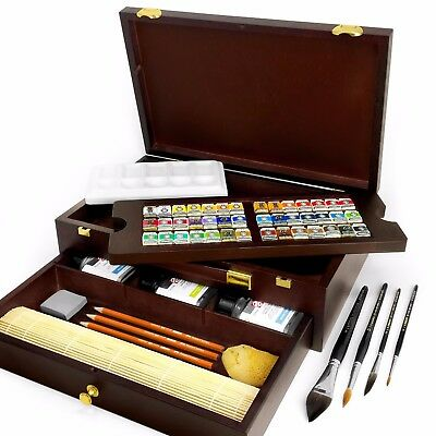 Royal Talens - Rembrandt 'Master' Edition Watercolour Art Set in Wooden Chest