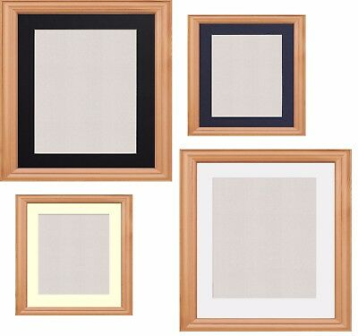 Beech Photo Frame Picture Poster Frames With Mounts Black White Ivory Blue