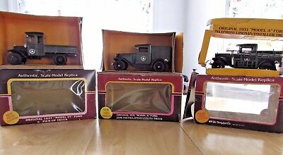 BELL SYSTEM-YORKSHIRE CO DIECAST 1/25 SCALE TRUCKS-LOT OF 3 in boxes