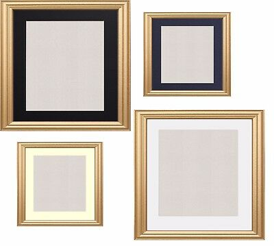 Gold Photo Frame Picture Poster Frames With Mounts Black White Ivory Blue