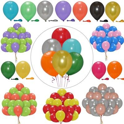 100 Large PLAIN BALONS BALLON helium BALLOONS Quality Halloween Trick baloon 12""