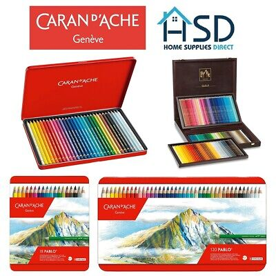 Caran D'Ache Pablo Professional Artists Colour Pencils Tin Sets 12/18/30/40/80