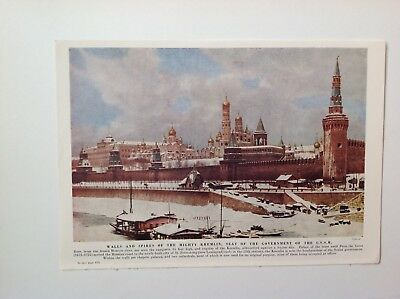 Walls And Spires Of The Mighty Kremlin,  C1953 Print