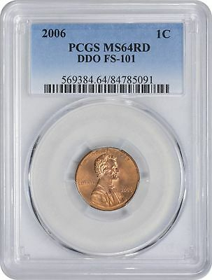2006 Lincoln Cent MS64RD PCGS DDO FS-101 Cherrypicker Variety Double Die Obverse
