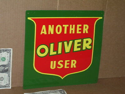 OLIVER - Another User - SHIELD LOGO SIGN -- Looks Never Used -- RED-GREEN-YELLOW