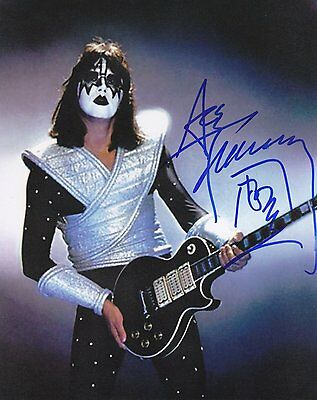 KISS - ACE FREHLEY SIGNED *AMAZING* BAND ROCK CONCERT GLOSSY 8x10 PHOTO RP WOW!