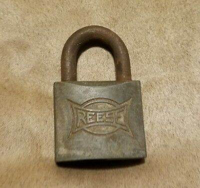 Vintage Reese Padlock Lock large No Key