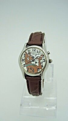 Rare Scooby Doo Musical Watch by Armitron 1999 Brown Leather Band