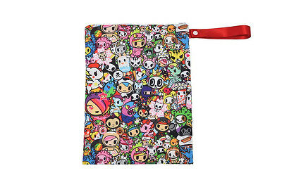 "Tokidoki Itzy Ritzy Travel Wet Bag with Handle 1 Pack 11"" x 14"" Donutella New"